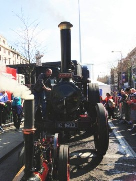 An old steam engine on O'Connell Street