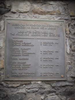 The leaders of the Easter Rebellion who were executed in 1916