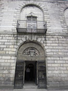 Kilmainham Gaul, the balcony where the bodies of the executed prisoners were hung