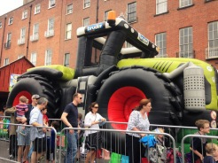 Huge tractor for jumping