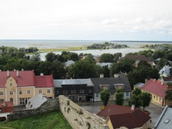 Haapsalu from the top of the Castle Tower